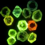 gyémántok katódlumineszcens képe